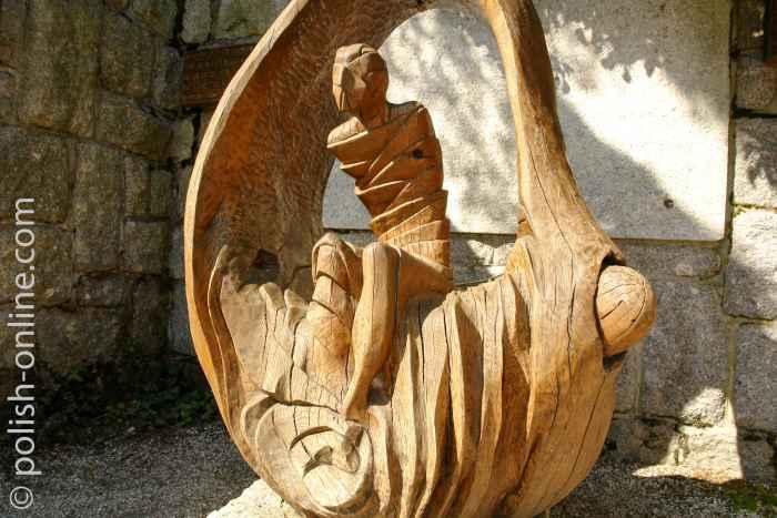 Holzskulptur Auferweckter Lazarus Kirche Wang in Krummhübel