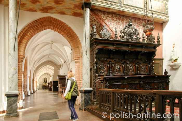 Chorumgang Klosterkirche Danzig Oliva