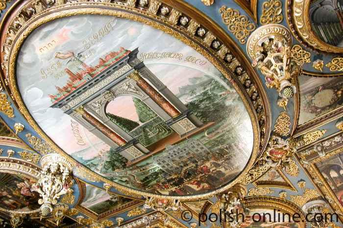 Deckenmalerei im Großen Ratssaal Rathaus Danzig