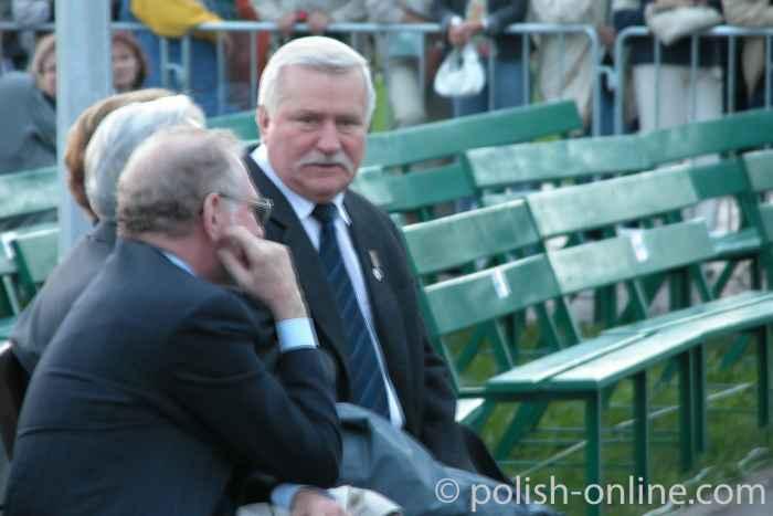 Lech Wałęsa in Danzig