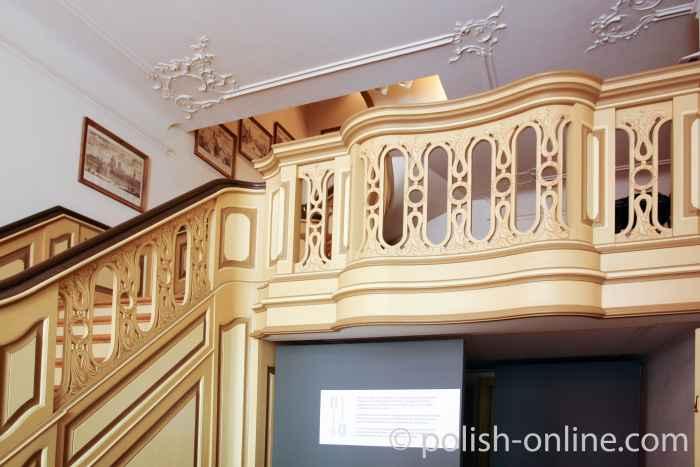 Treppe in der Diele des Uphagenhauses in Danzig