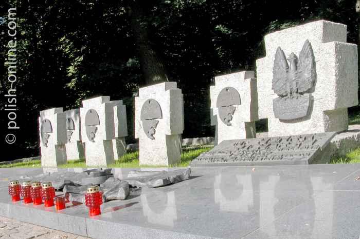 Soldatengräber auf der Westerplatte Danzig