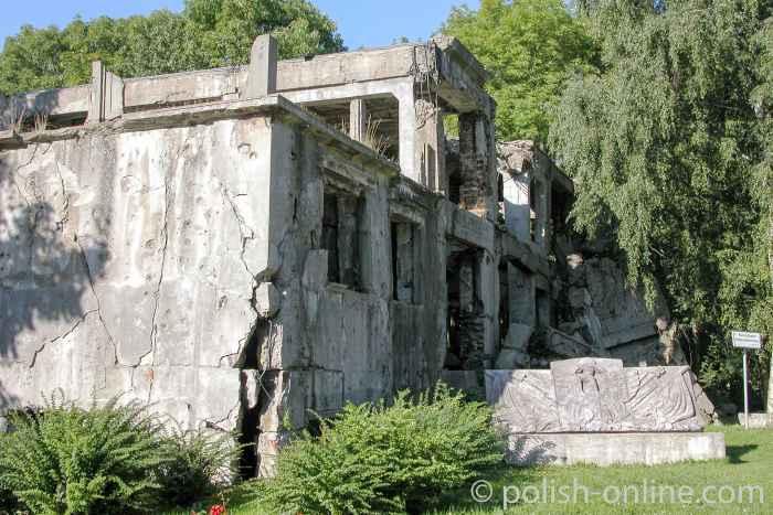 Kaserne auf der Westerplatte in Danzig