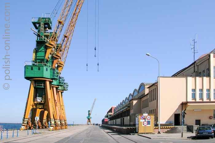Meereshof im Hafen von Gdingen (Gdynia)