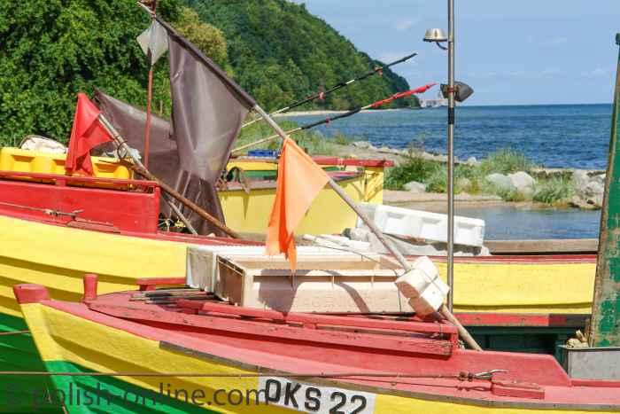 Fischerboote am Strand von Oxhöft