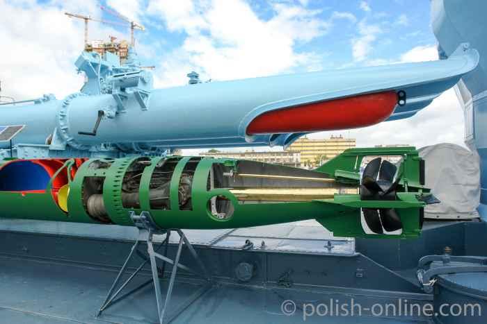 Torpedorohre auf dem Zerstörer Błyskawica