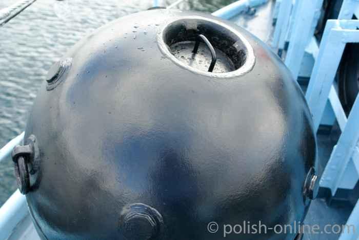 Schiffsmine auf Zerstörer  Błyskawica