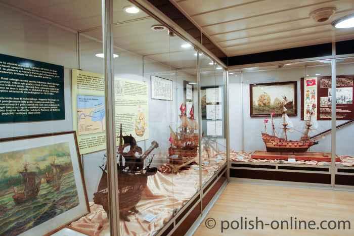 Ausstellungsraum auf dem Zerstörer Błyskawica