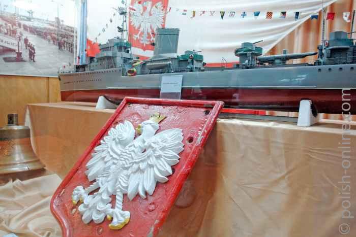 Modell des Zerstörers Błyskawica