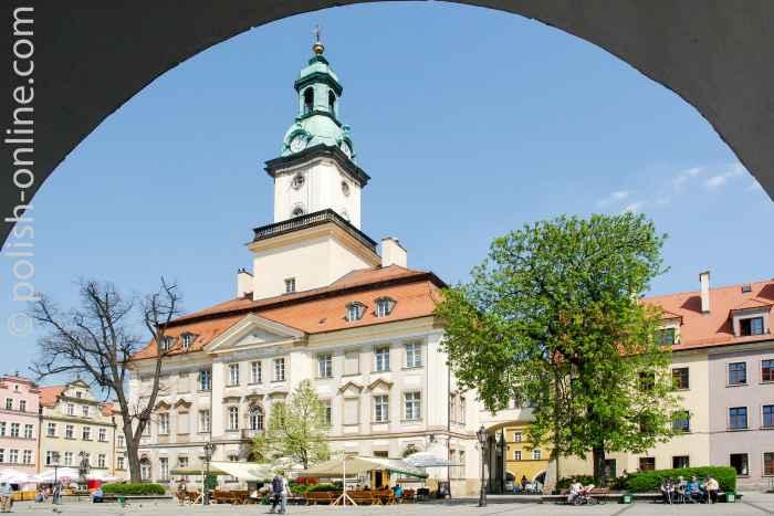 Rathaus in Hirschberg (Jelenia Góra)