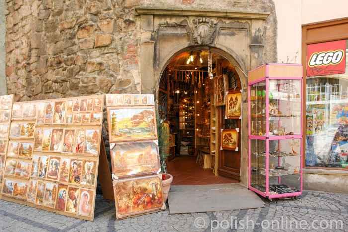 Souvenirladen neben der Kirche St. Anna