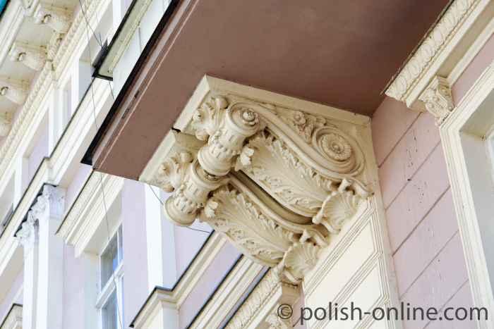 Verzierung an einer Fassade aus der Gründerzeit