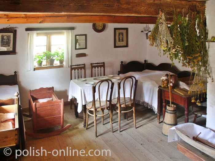 Bauernwohnstube im Freilichtmuseum Wdzydze Kiszewskie