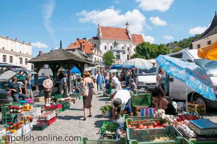 Markttreiben in Kazimierz Dolny