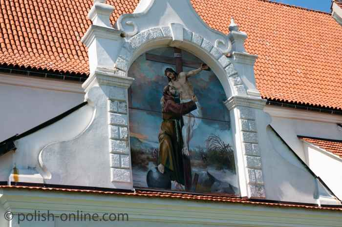 Wandmalerei an der Franzikanerkirche in Kazimierz Dolny