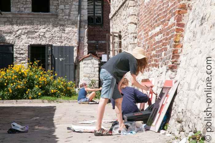 Kunststudenten in Kazimierz Dolny