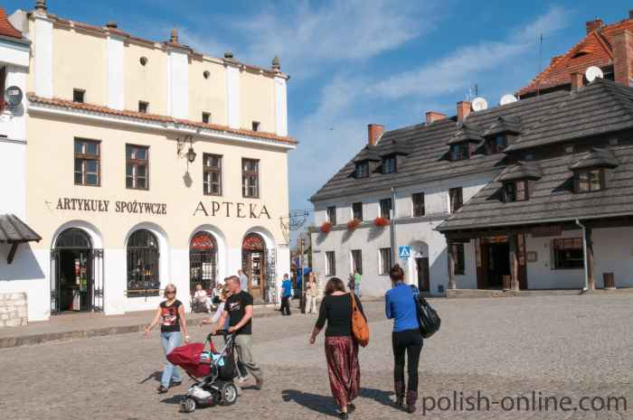 Nordostecke des Marktes in Kazimierz Dolny