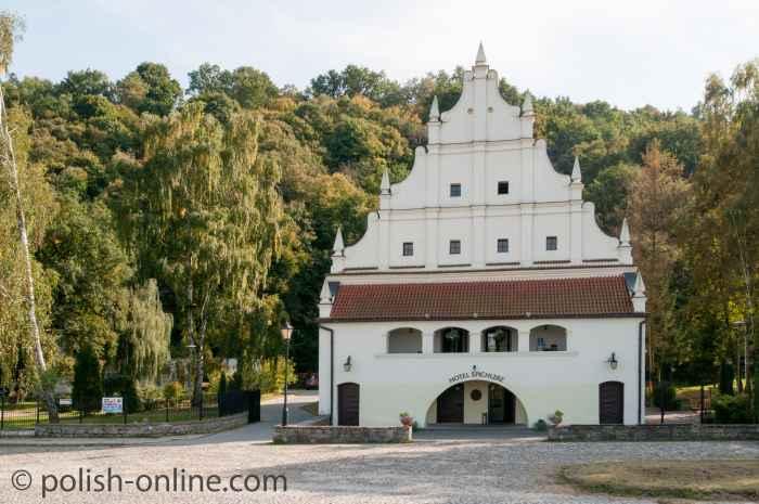 Ein als Hotel genutzter Speicher in Kazimierz Dolny