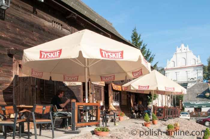Café auf dem Kleinen Markt in Kazimierz Dolny