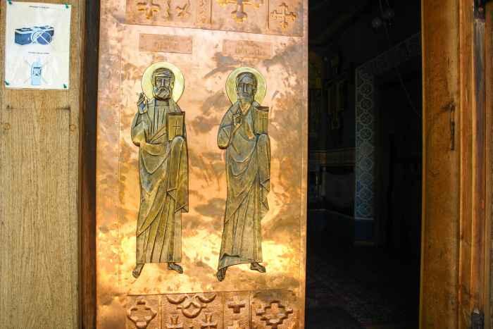 Eingangsportal zur Kirche in Grabarka