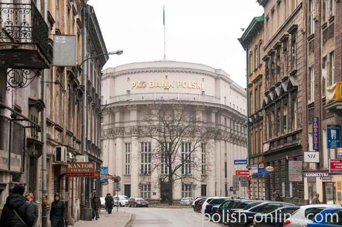Bankgebäude in Krakau (Kraków)