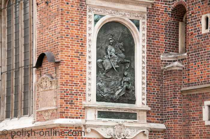 Gedenktafel für Johann III. Sobieski in Krakau (Kraków)