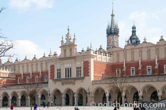 Tuchhallen in Krakau (Kraków) Polen
