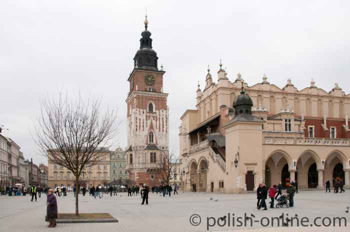 Rathausturm in Krakau (Kraków)