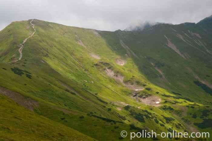 Unterhalb des Berges Trzydniowy Wierch Hohe Tatra
