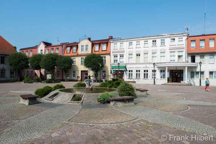 Neoklassistische Rathaus von Bad Polzin