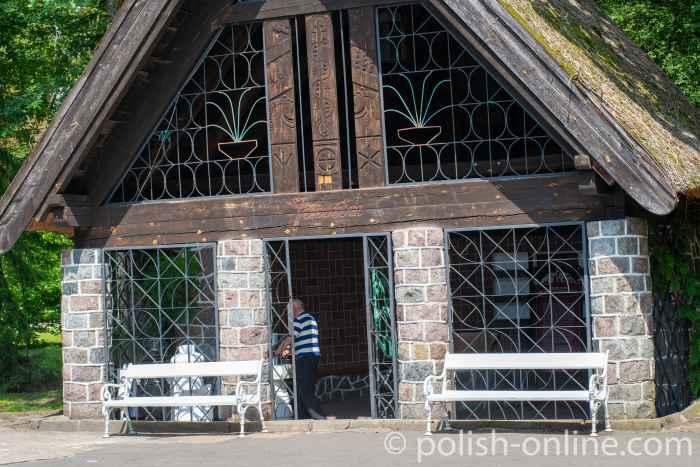 Trinkhalle im Kurpark von Bad Polzin