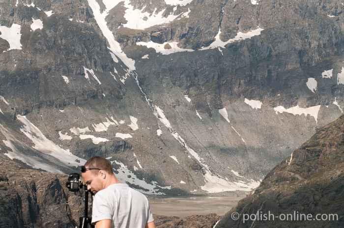 Fotograf in den Bergen
