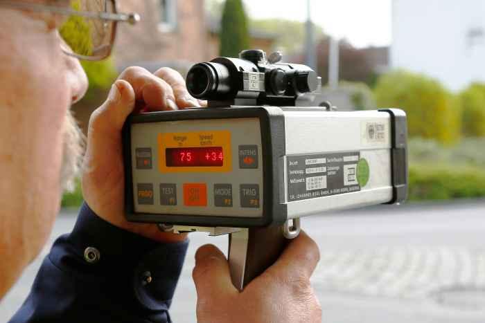 Geschwindigkeitsmessung der Polizei