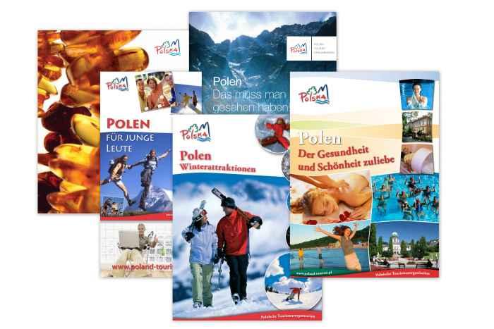 Flyer des Polnischen Fremdenverkehrsamtes