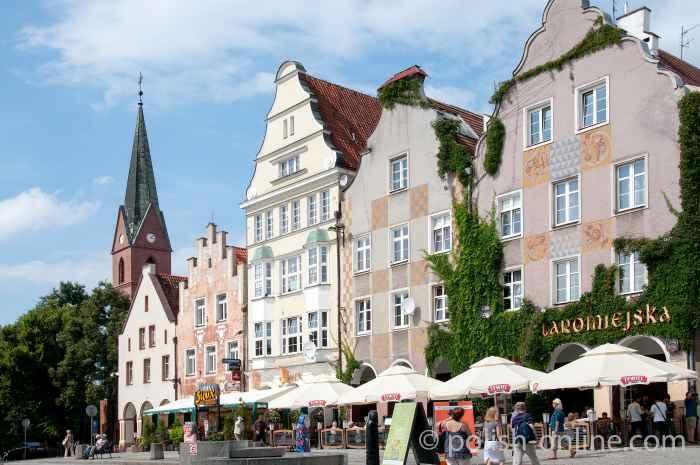 Marktplatz von Allenstein (Olsztyn)