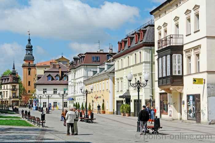 Innenstadt von Bad Warmbrunn (Cieplice)