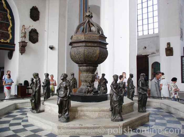 Taufbecken in der Danziger Marienkirche