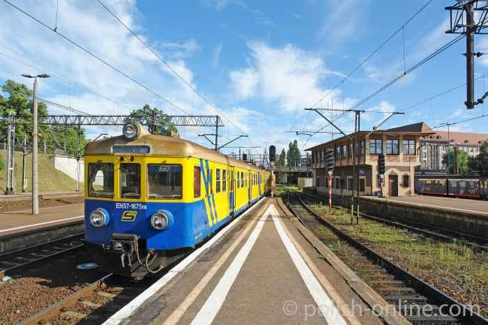 Schnellbahn am Danziger Hauptbahnhof