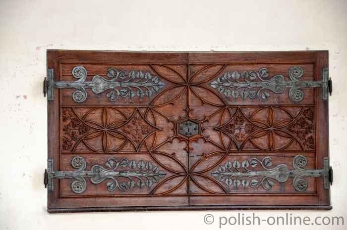 Fensterlade im Sommerremter Marienburg (Malbork, Polen)