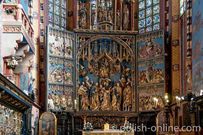 Altar von Veit Stoss in der Marienkirche in Krakau