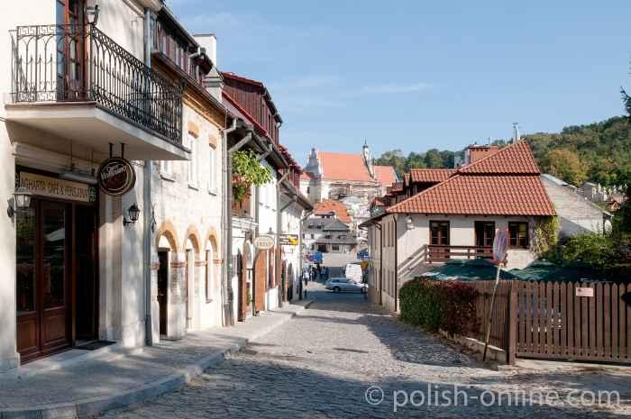 Gasse in der Altstadt von Kazimierz Dolny