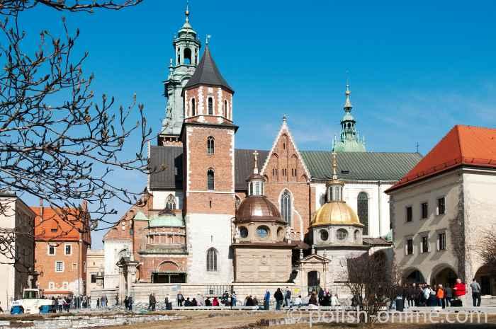 Wawelkathedrale auf dem Wawel in Krakau