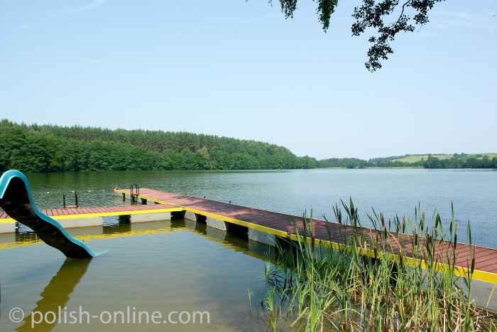 Badestelle am Großen Wongel See in Masuren