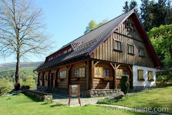 Historisches Holzehaus in Krummhübel (Karpacz)