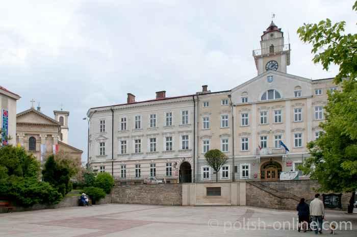 Markt und Rathaus von Gorlice