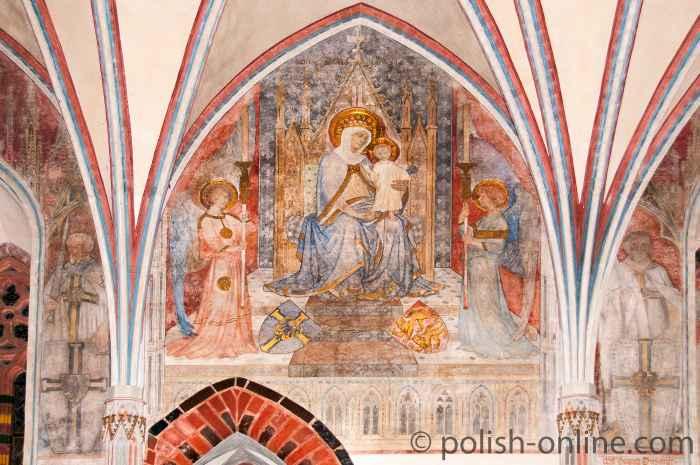 Wandmalerein Thronenden Madonna Marienburg (Malbork, Polen)