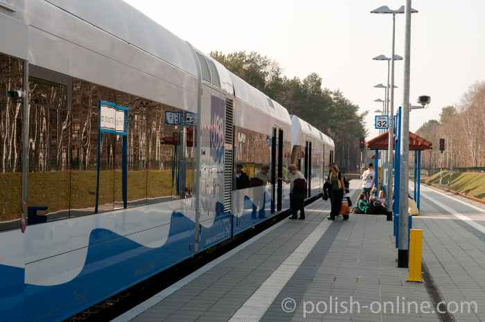 Bahnhof der Usedomer Bäderbahn (UBB) in Świnoujście (Swinemünde)
