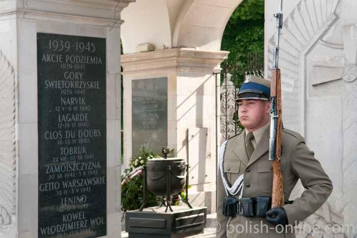 Grab des unbekannten Soldaten im Sachsenpark Warschau