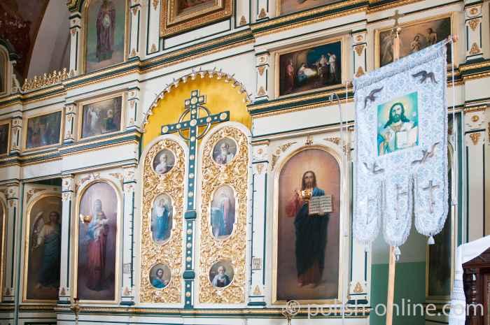 Ikonostase in der orthodoxen Kirche in Włodawa