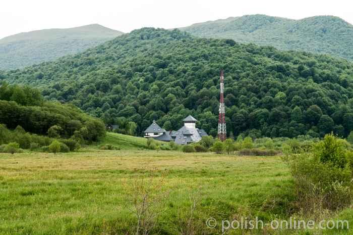 Stützpunkt der polnischen Grenztruppen in Ustzyki Górne
